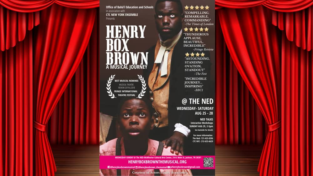 content provided by Henry Box Brown the Musical media representative Matthew Shelly