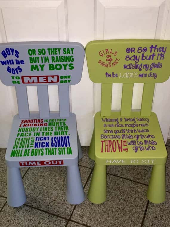 New Trend Personalized Time Out Chairs For Kids Photo 987