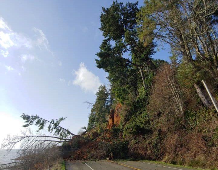Landslide outside of Hoquiam