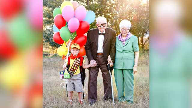 5-year-old boy's 'Up'-themed photoshoot with great-grandparents goes viral  | 98 Rock Baltimore