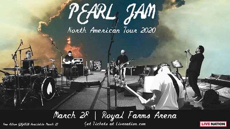 Postponed Pearl Jam At Royal Farms Arena 98 Rock Baltimore