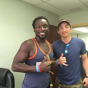 Island Conversations #45–Ironman finisher Roderick Sewell, with mentor Rudy Garcia-Tolson (both double amputees!)