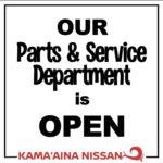 Kamaaina Nissan Service Department