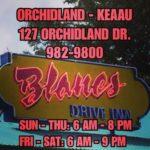 Blane's Drive Inn – Orchidland