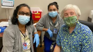 Kupuna getting vaccine at hilo medical center