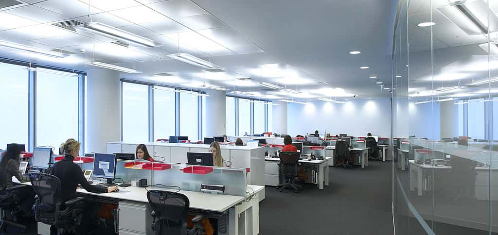 people working at their desks