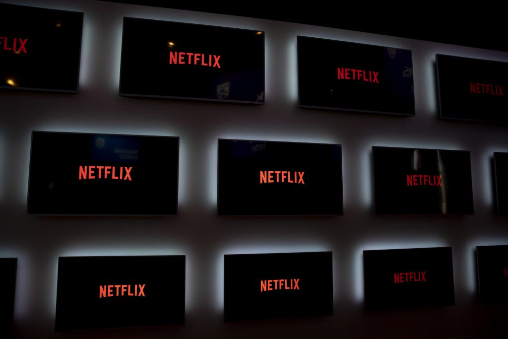 Monitors with Netflix logo pictured during the international electronics and innovation fair IFA in Berlin on September 10, 2019
