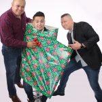 Img 1: agustin franco and carcamo with gift wrap