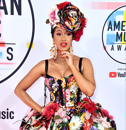 Cardi B at the American Music Awards
