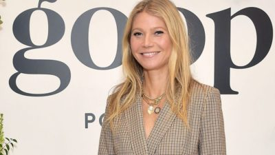 Gwyneth Paltrow posing on Goop event
