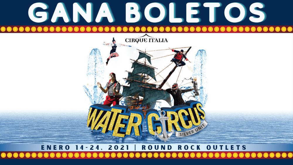 Cirque Italia Water Circus - barco en el agua con pirata y Payaso