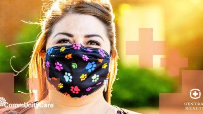 Mujer con Cubre bocas_Central Health