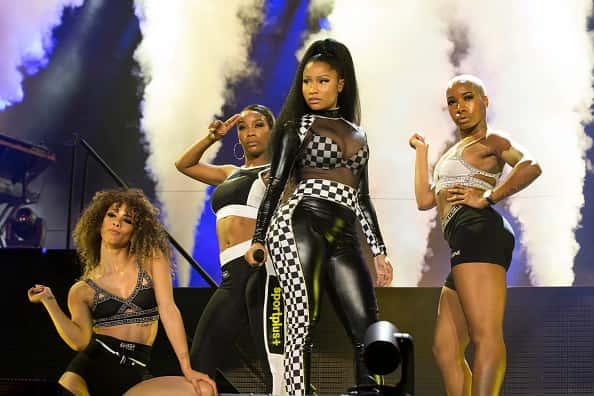Trinidadian-born American rapper, singer, songwriter, and actress Nicki Minaj headlines day two of X Games Austin performing on