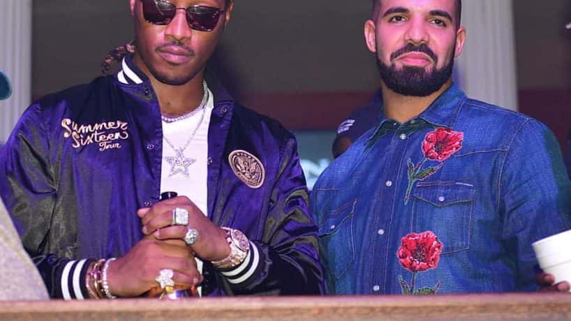 Future and Drake wearing blue