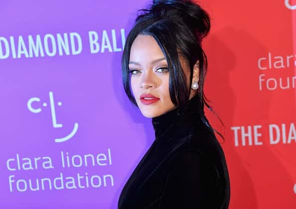 Barbadian singer/actress Rihanna arrives for Rihanna's 5th Annual Diamond Ball Benefitting The Clara Lionel Foundation at Cipria