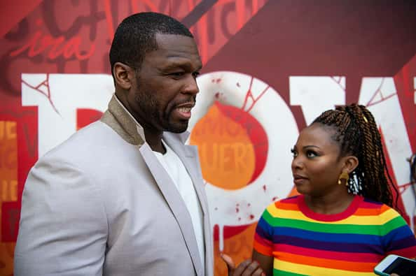 Curtis '50 Cent' Jackson and Naturi Naughton attend the presentation of 'Power' Fourth Season on June 26, 2019 in Barcelona, Spa