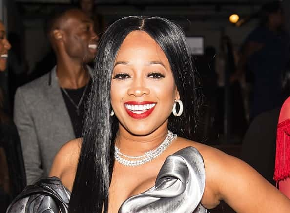 Rapper Trina is seen leaving the Blonds fashion show during New York Fashion Week: The Shows at Gallery 1, Skylight Clarkson Sq