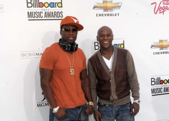 Rapper 50 Cent and boxer Floyd Mayweather Jr. arrive at the 2011 Billboard Music Awards at the MGM Grand Garden Arena May 22, 20