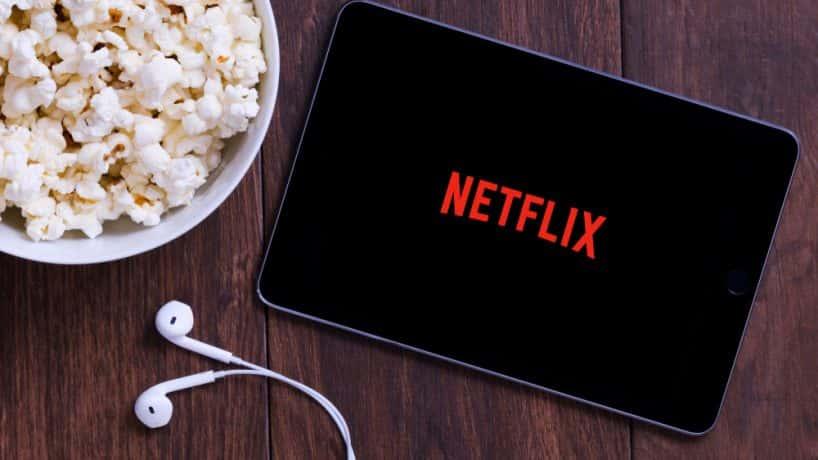 Netflix with popcorn