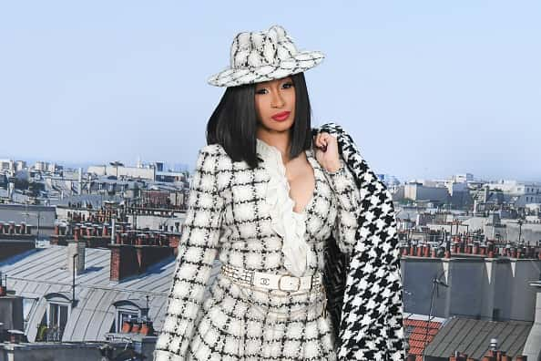 Cardi B attends the Chanel Womenswear Spring/Summer 2020 show as part of Paris Fashion Week on October 01, 2019 in Paris, France
