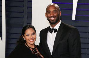 Vanessa and Kobe Bryant wearing black