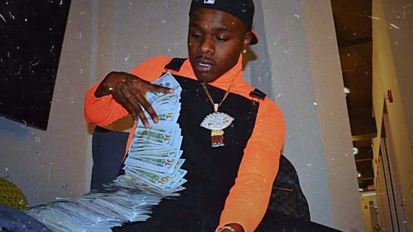 Da baby holding a lot of money