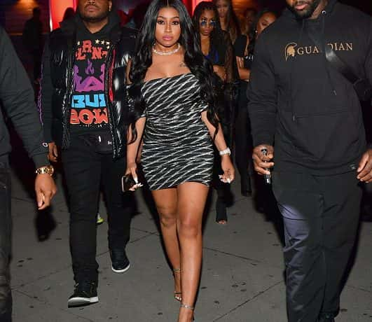 Rapper Yung Miami of the Group City Girls attends The New Generation Tour After party at Compound on April 21, 2019, in Atlanta,