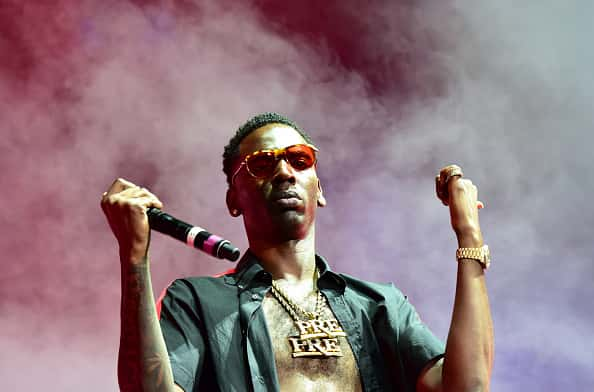 Young Dolph performs at Birthday Bash ATL The Heavyweights of HIP HOP Live in Concert at Philips Arena on June 18, 2016 in Atlanta, Georgia.