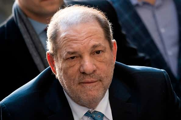 Harvey Weinstein arrives at the Manhattan Criminal Court, on February 24, 2020 in New York City. - The jury in Harvey Weinstein's rape trial hinted it was struggling to reach agreement on the most serious charge of predatory sexual assault as day four of deliberations ended February 21, 2020 without a verdict. The 12 jurors asked New York state Judge James Burke whether they could be hung on one or both of the top counts but unanimous on the three lesser counts. The disgraced movie mogul, 67, faces life in prison if the jury of seven men and five women convict him of a variety of sexual misconduct charges in New York. (