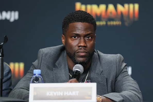 """Kevin Hart attends the """"Jumanji: The Nex Level"""" press conference at Montage Los Cabos on November 20, 2019 in Cabo San Lucas, Mexico."""