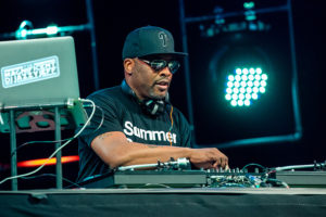 GULF SHORES, AL - MAY 18: DJ Jazzy Jeff performs during the Hangout Music Festival Kick-Off concert on May 18, 2017 in Gulf Shores, Alabama.