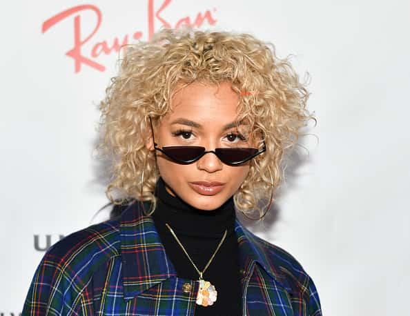 LOS ANGELES, CALIFORNIA - FEBRUARY 10: DaniLeigh attends the Universal Music Group's 2019 After Party To Celebrate The GRAMMYs at ROW DTLA on February 10, 2019 in Los Angeles, California.