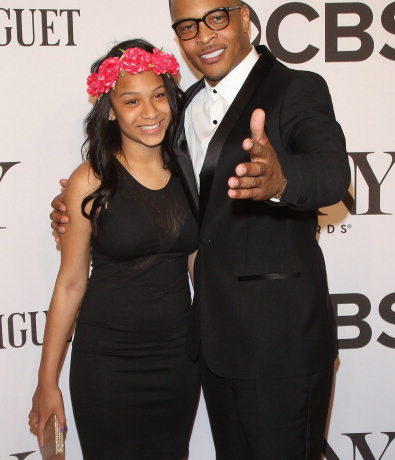 Deyjah Imani Harris (L) and T.I. attend American Theatre Wing's 68th Annual Tony Awards at Radio City Music Hall on June 8, 2014 in New York City.