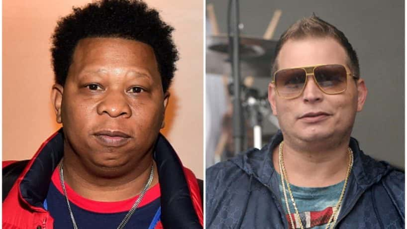 Mannie Fresh on the left, Scott Storch on the left