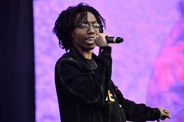 NEW YORK, NEW YORK - OCTOBER 13: Lil Tecca performs live during Rolling Loud music festival at Citi Field on October 13, 2019 in New York City.