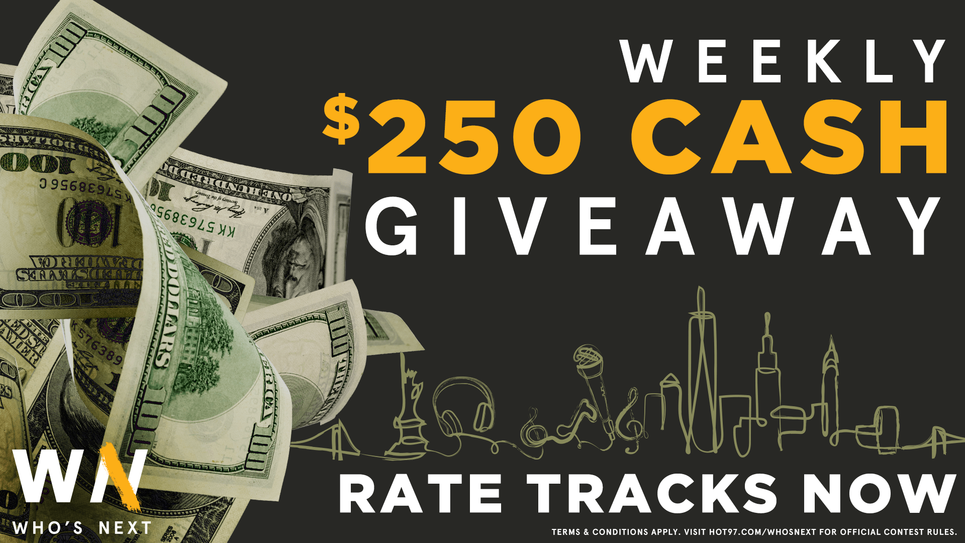 Who's Next Curator Prizing $250 Cash Giveaway