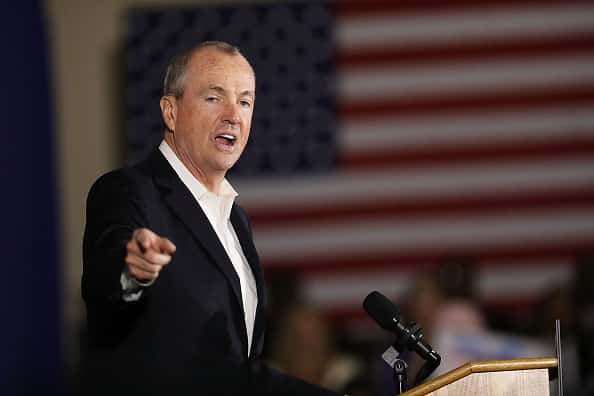 NEWARK, NJ - OCTOBER 19: Democratic candidate Phil Murphy, who is running against Republican Lt. Gov. Kim Guadagno for the governor of New Jersey , speaks at a rally on October 19, 2017 in Newark, New Jersey. Murphy was later joined by former President Barack Obama This is Obama's first return to the campaign trail to stump for Democratic gubernatorial candidates in New Jersey and Virginia as they prepare for next month's elections.
