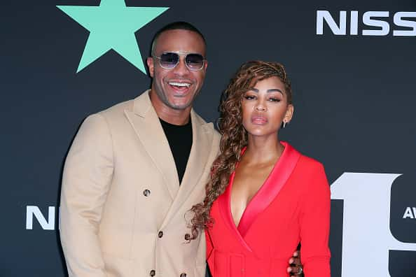 DeVon Franklin (L) and Meagan Good attends the 2019 BET Awards on June 23, 2019 in Los Angeles, California.