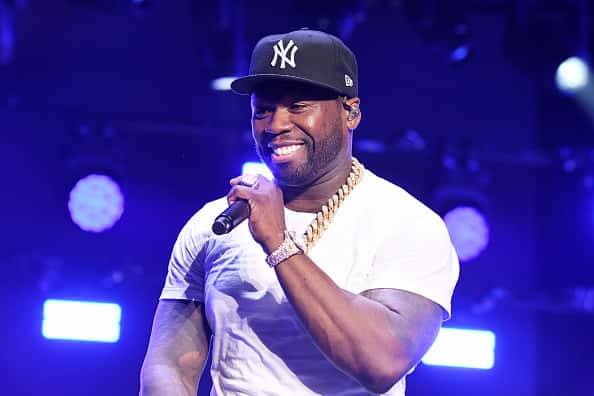 "NEW YORK, NEW YORK - AUGUST 20: Curtis ""50 Cent"" Jackson performs onstage at STARZ Madison Square Garden ""Power"" Season 6 Red Carpet Premiere, Concert, and Party on August 20, 2019 in New York City."