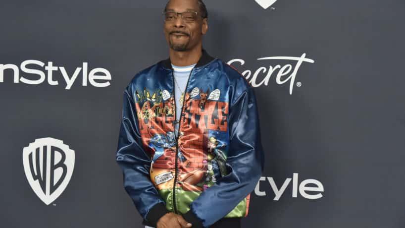 Snoop Dogg looking at the camera
