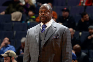 Patrick Ewing wearing a suit