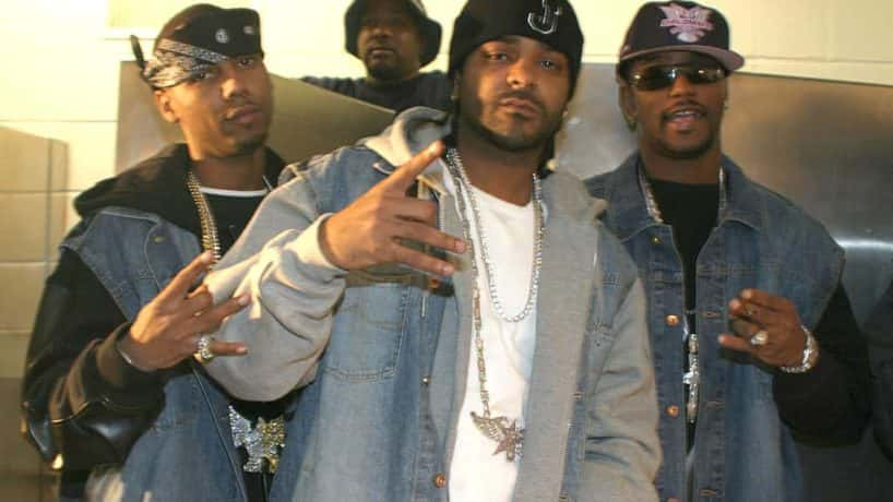 Juelz Santana, Jim Jones, and Cam'ron posing for a picture