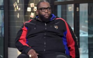 Killer Mike sitting in the chair