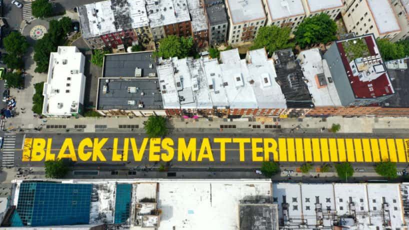 Black Lives Matter Mural In Brooklyn