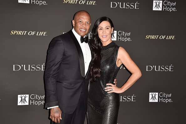 Dr. Dre and Nicole Young attend the 2018 City Of Hope Gala at Barker Hangar on October 11, 2018 in Santa Monica, California.