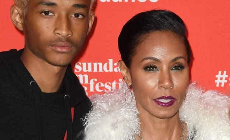 PARK CITY, UT - JANUARY 21: Jaden Smith and mother Jada Pinkett Smith attend the 'Skate Kitchen' Premiere during 2018 Sundance Film Festival at Egyptian Theatre on January 21, 2018 in Park City, Utah.