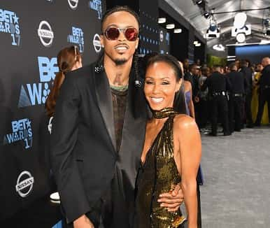 LOS ANGELES, CA - JUNE 25: August Alsina (L) and Jada Pinkett Smith at the 2017 BET Awards at Staples Center on June 25, 2017 in Los Angeles, California.