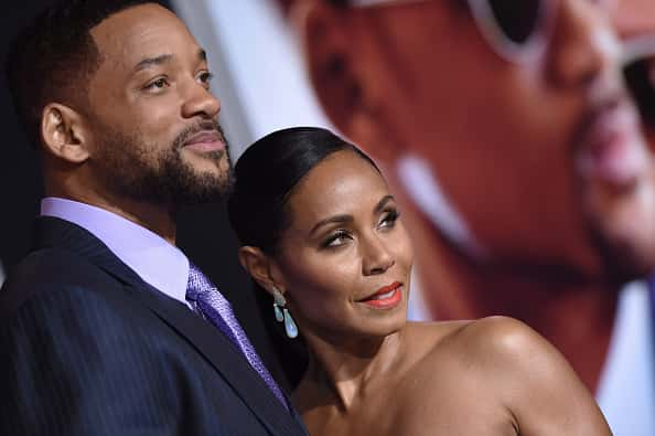 HOLLYWOOD, CA - FEBRUARY 24: Actors Will Smith and Jada Pinkett Smith arrive at the Los Angeles World Premiere of Warner Bros. Pictures 'Focus' at TCL Chinese Theatre on February 24, 2015 in Hollywood, California.