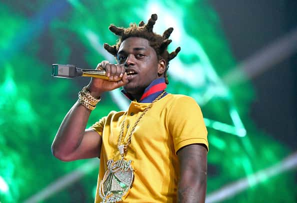 SAN BERNARDINO, CA - DECEMBER 16: Rapper Kodak Black erforms onstage at the Rolling Loud Festival at NOS Events Center on December 16, 2017 in San Bernardino, California.