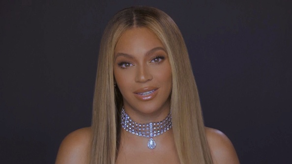 In this screengrab, Beyoncé is seen during the 2020 BET Awards. The 20th annual BET Awards, which aired June 28, 2020, was held virtually due to restrictions to slow the spread of COVID-19.